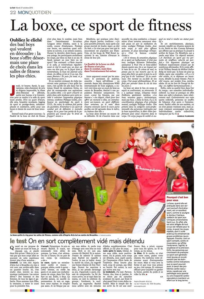 Article de presse boxe